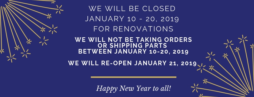 Postal Things Closed January 10 - 20, 2019 for renovations